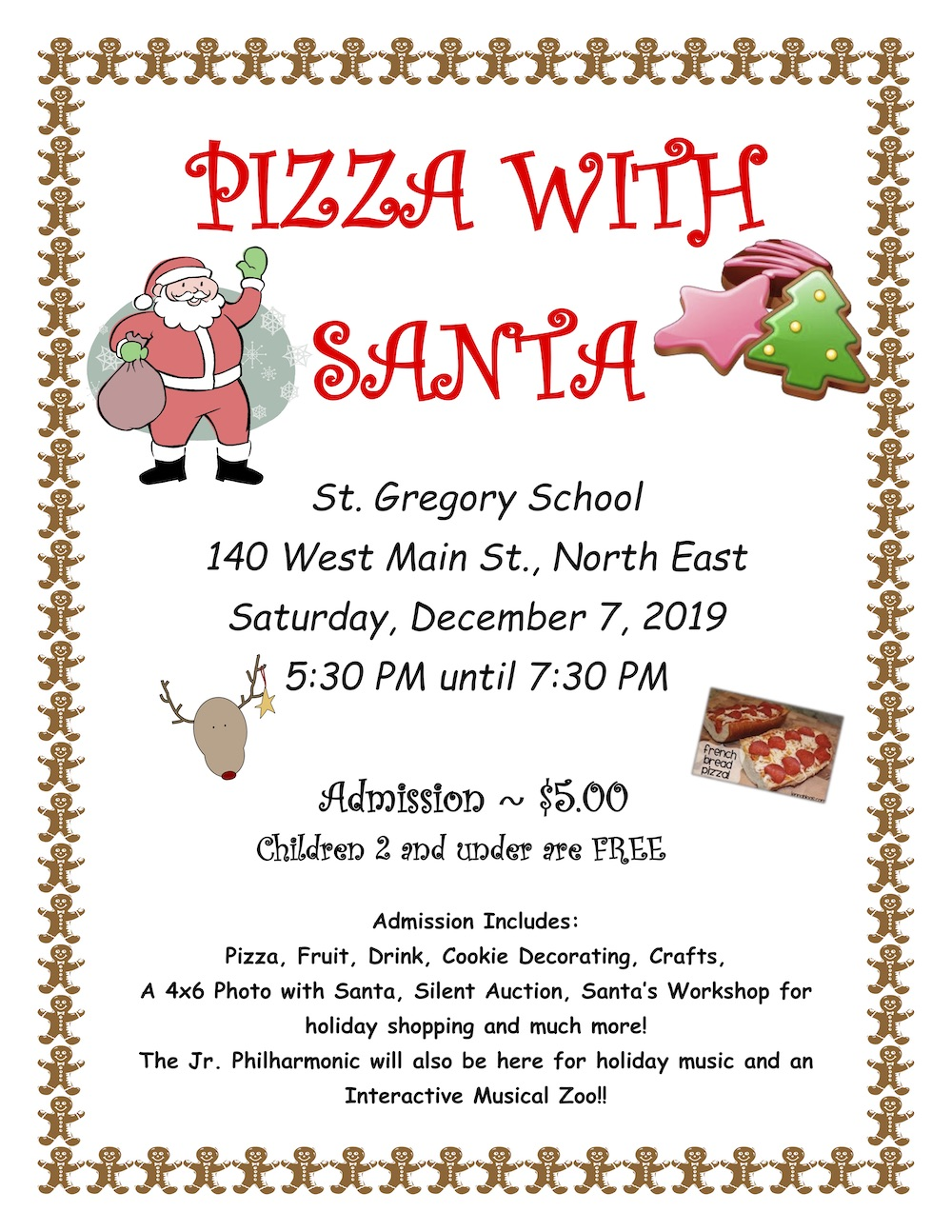 2019 Pizza with Santa