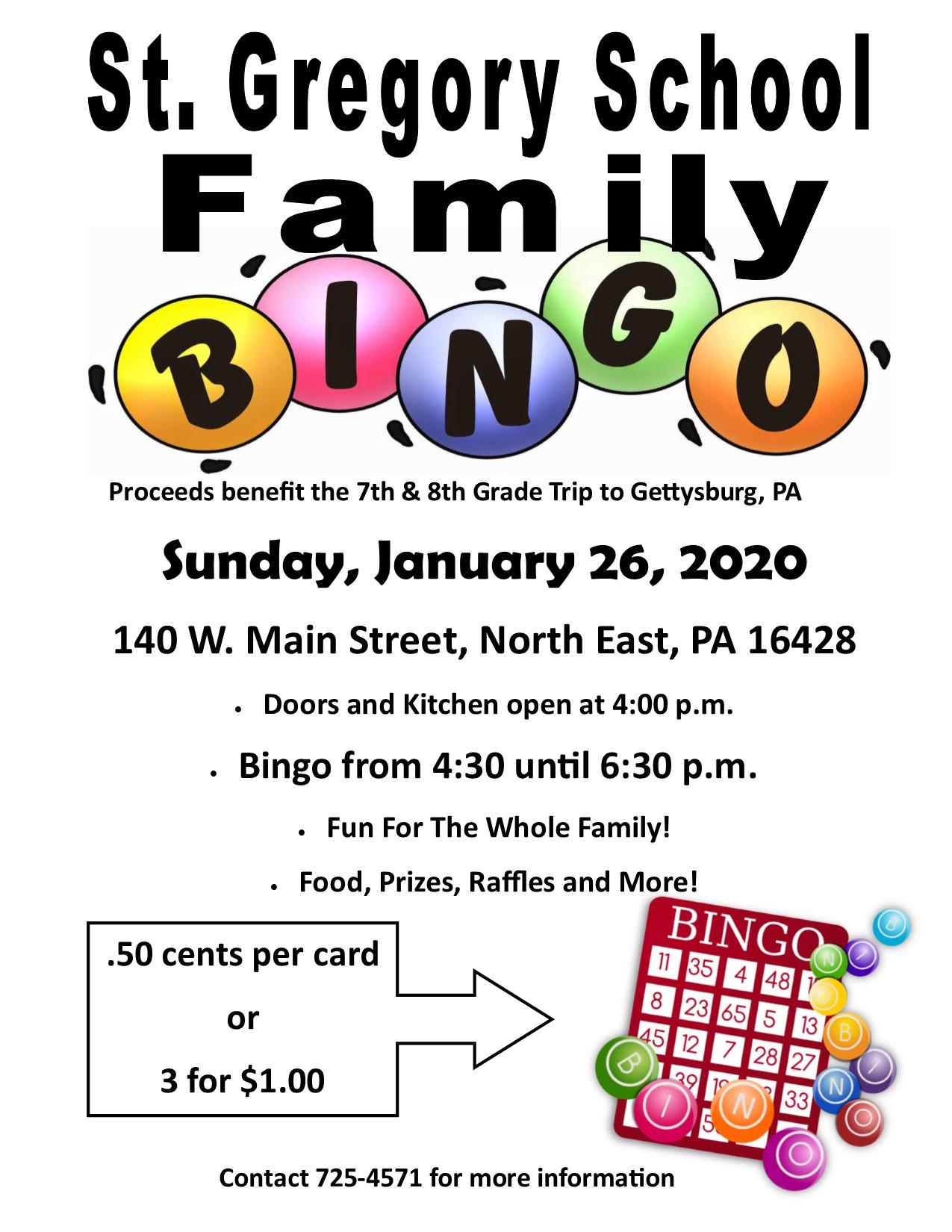 2020 Family Bingo